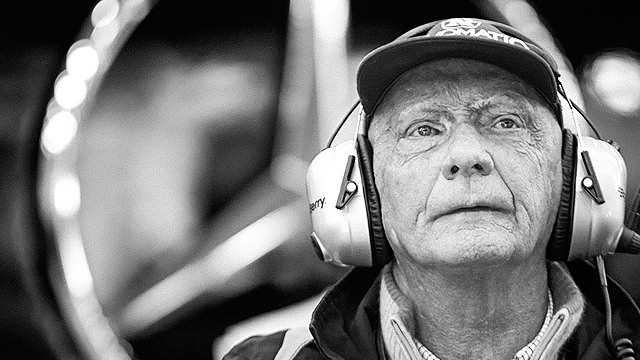 Lauda and the Mercedes Formula 1 brain trust