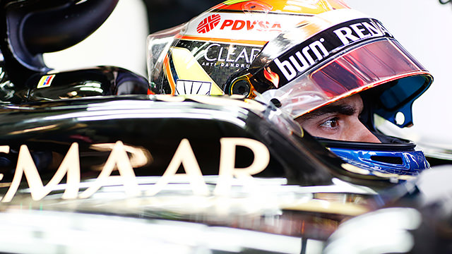 Maldonado secures first points for Lotus as Grosjean is barged aside