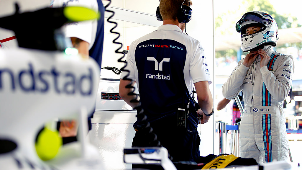 Susie Wolff prepares for the first Williams test of the year