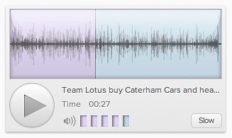 F1Minute audio player in Chrome