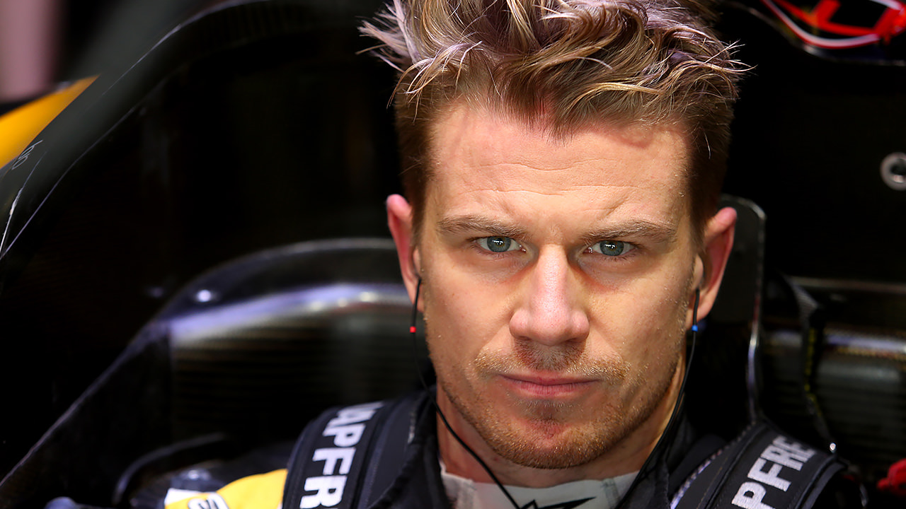 Hülkenberg drives off into the night