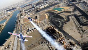 David Coulthard gets a Red Bull Air Race flight