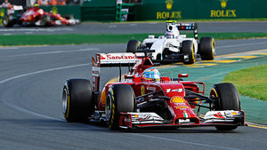 Alonso makes the most of his Ferrari's performance
