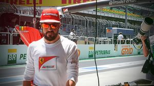 Alonso returns from his stint as a fireman