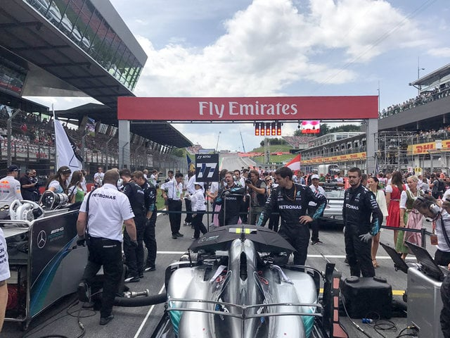 Sunny on the grid - rain clouds not far we're told.