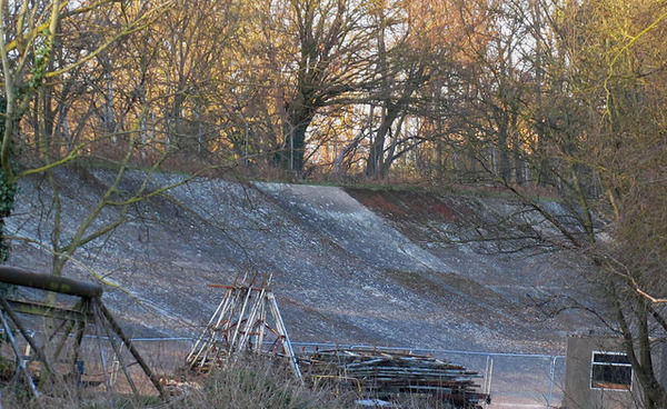 Brooklands Banking, resting in the sunset.