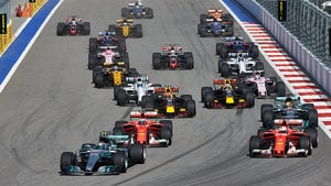 Bottas leads field to first F1 victory after slog in Sochi