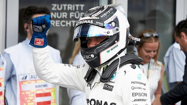 Bottas takes pole as Hamilton gets five place penalty
