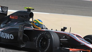 Bruno Senna makes his F1 debut in Bahrain