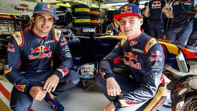 Sainz and Verstappen at Toro Rosso