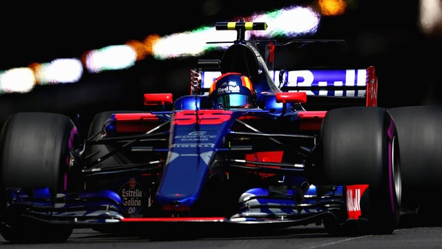 Sainz navigates the Monaco tunnel
