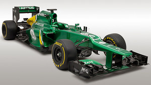 The Caterham CT03 in the studio
