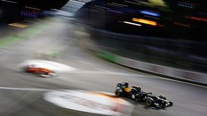 Caterham under the spotlights of Singapore