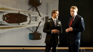 Lord Peter Mandelson visits the Williams factory