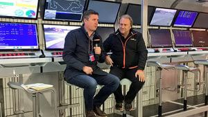 Robert Fernley is on the pitwall with Crofty