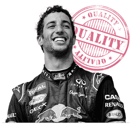 Daniel Ricciardo, voted the best F1 driver in 2014 by Sidepodcast readers
