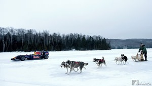 Red Bull run a demo through the snow in Canada