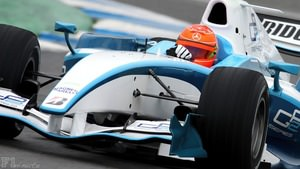 Michael Schumacher test a GP2 car in Jerez