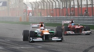 Di Resta crosses the finish line in Bahrain