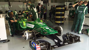 A rebuilt CT05 for Ericsson is ready to race