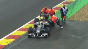 Esteban pushed by marshals