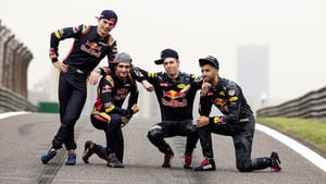 Ricciardo, Kvyat, Sainz and Verstappen in China