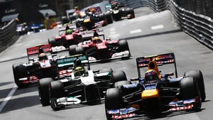 Webber leads the field in Monaco