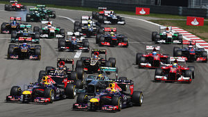F1 race action in Germany