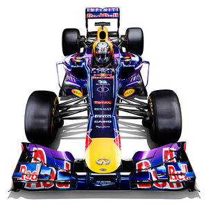 Infinity Red Bull RB9 studio shot