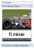 Embedding daily F1 news content on the social network