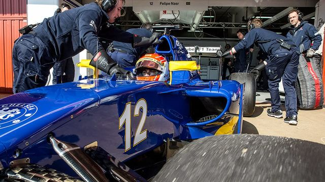 Nasr and Wolff collide on first day of Barcelona testing