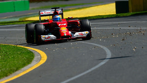 Fernando circulates Albert Park on day one
