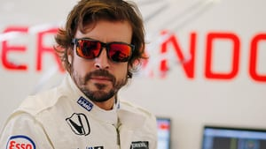 Alonso was fifth with four laps to go and just had to fend off the charge of his former teammate
