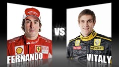 Sidepodcast: Character Cup 2010 - Round 1, Fernando Alonso vs. Vitaly Petrov