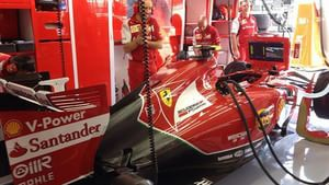 Inside the Ferrari garage