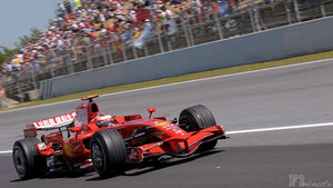 Heikki Kovalainen suffers high speed accident during Spain 2008