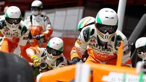 Force India faced pit stop drama and tyre trouble in Spain