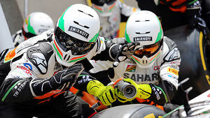 Force India make their pitstop strategy count