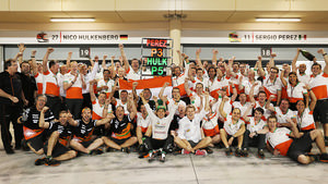Force India celebrate a hard won 3rd place