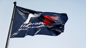 F1 flag in the wind
