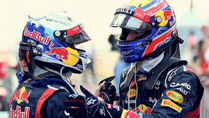 Vettel and Webber chat post race in Korea