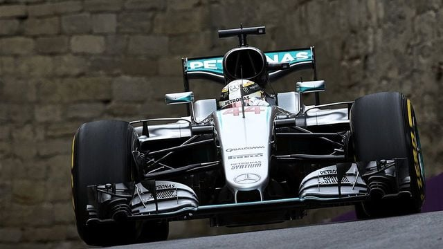 Hamilton leads the way in problem-filled Baku practice sessions