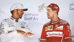 Vettel takes victory ahead of double Mercedes podium