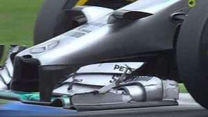 Front left damage for Hamilton