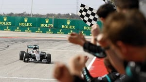 Hamilton wins 50th Grand Prix with easy victory in Austin