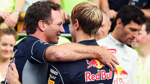 Christian Horner in the paddock after winning the Italian Formula One Grand Prix