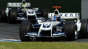 Montoya and Schumacher do battle in Australia 2004