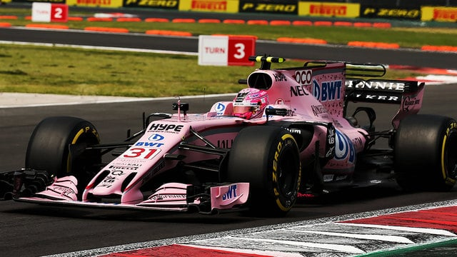 Ocon closes gap as Force India secure best of the rest