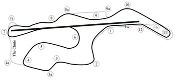 Map of Infineon Raceway, see notes