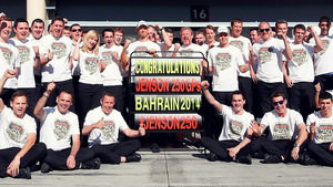 McLaren celebrate Button's 250th GP